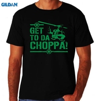 GILDAN Get To Da Choppa Chopper Funny Arnold Classic 80 S Action Movie New Mens T