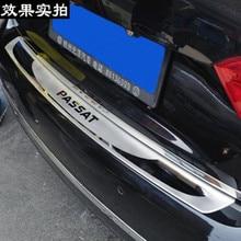 Автозапчасти-покрывает 304 Нержавеющая сталь Задний бампер протектор Подоконник, пригодный для 2011-2015 Volkswagen Passat B6 автомобиля стиль