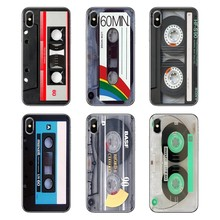 For Samsung Galaxy A5 A6 A7 A8 A9 J4 J5 J7 J8 2017 2018 Plus Prime Retro Side Old Style 3310 Tape Cassette Art Phone Shell Cases(China)