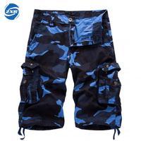Verano hombres Tactical Militar Pantalones cortos masculino al aire libre deportes escalada Monos cargo straight suelta playa corto Pantalones