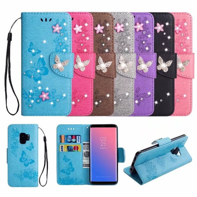 samsung s9 wallet case bling