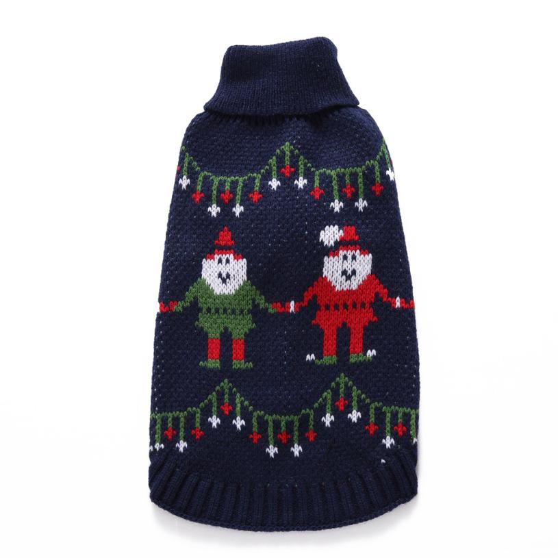 Transer Dog Sweater Pet Sweater Christmas Fashion Comfortable Pet Clothes Festival Dress Sweater Knitwear 3.30