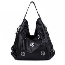 AIDRANI Brand Bags Handbags Women High Quality Genuine Leather Bag Fashion Rivet Messenger Cowhide Leather Shoulder Bags 50ZF