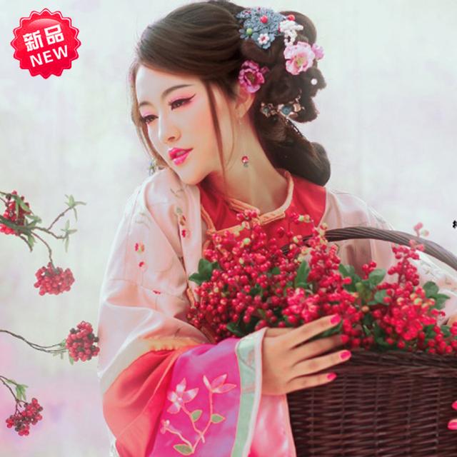 Nwfp traje oriental traje femenino de carga mostrar señorita ropa ropa pratensis de frijol rojo