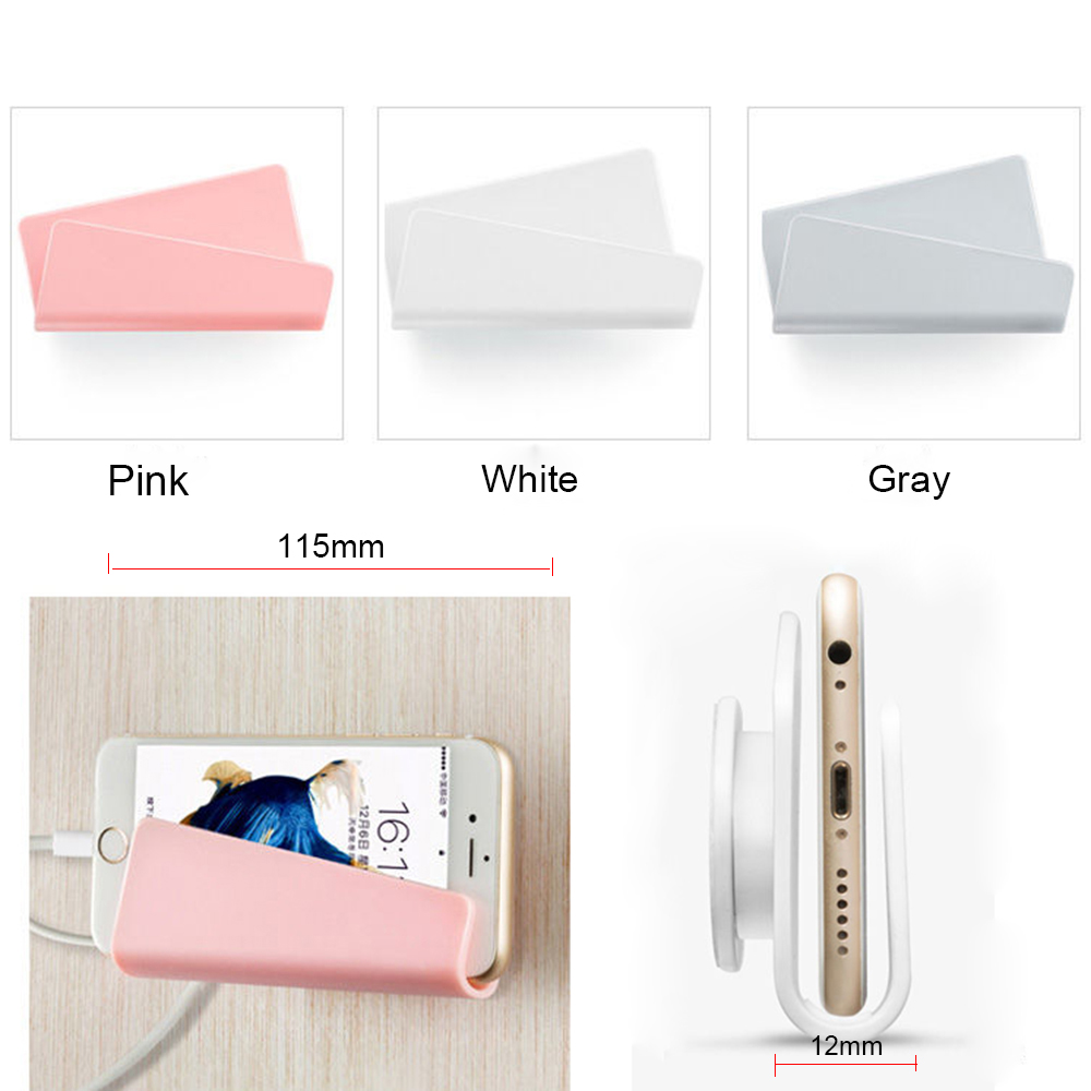Wall-Mount-Mobile-Phone-Holder-with-Adhesive-Strips-Charging-Charger-Holder-Stand-For-iPhone-XR-XS(2)