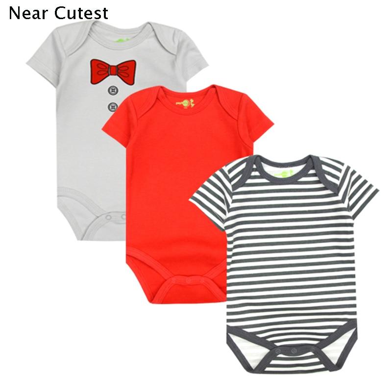 Մոտ Cutest 3 հատ / լոտ Baby Romper Ամառային - Հագուստ նորածինների համար - Լուսանկար 2