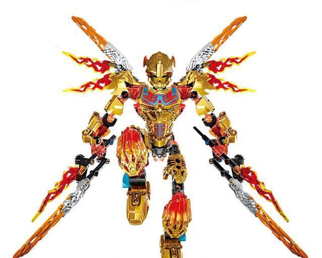 XSZ 612-4 Biochemical Warrior BionicleMask of Light Bionicle Tahu Ikir Building Block Compatible with Lepin Toys bionicle максилос и спинакс