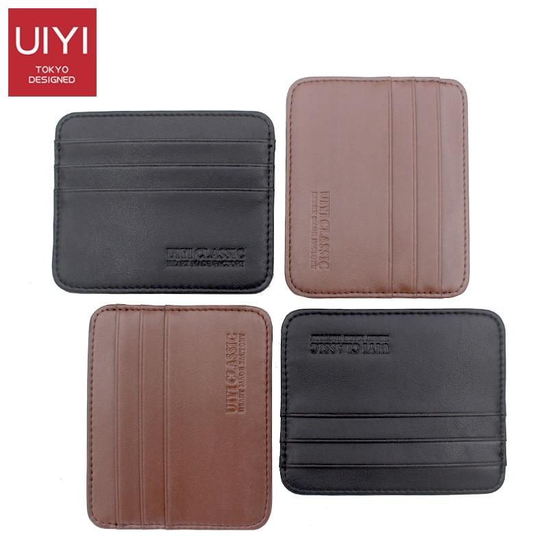 UIYI Men's PVC Carrying Card Case Mini Wallet Business Card Holder Bank cardholder pickup Multi-card-bit pack bag ID Pocket