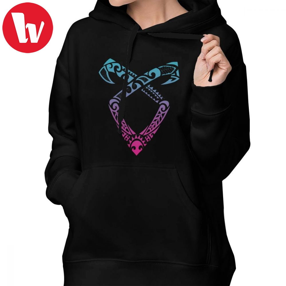 Shadowhunters Hoodie Angelic Runes Symbol Hoodies Cotton XL Women Simple Graphic Blue Pullover