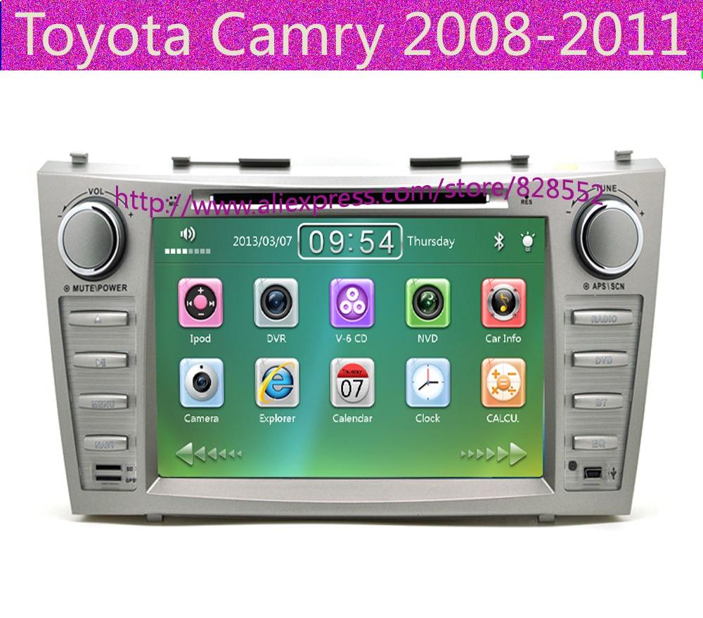 """imágenes para Envío Libre 8 """"coches Reproductor de DVD Para Toyota Camry 2008-2011 GPS Navi ipod de la Ayuda SD/USB Radio de la Pantalla Táctil mp3 Bluetooth"""