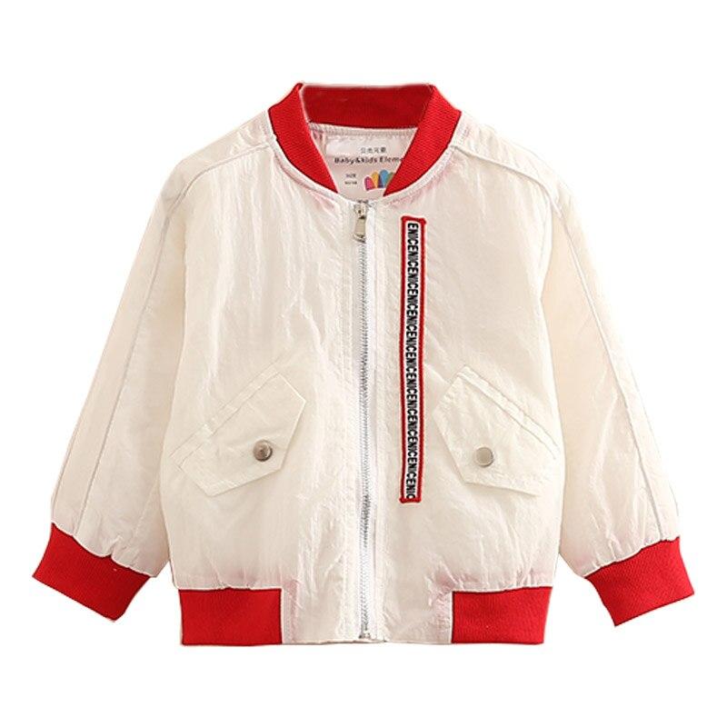 Для маленьких девочек жакет на молнии Весна 2018 с длинными рукавами для девочек бейсбольное пальто Дети Верхняя детская одежда для малышей п...