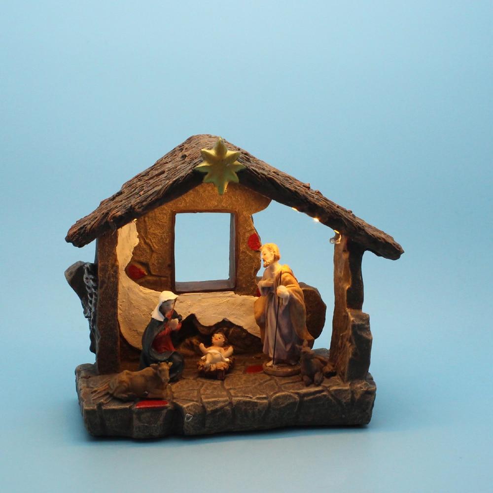"Kurt Adler 9/"" Finely Detailed Christmas Old World Nativity Set 7 Pieces"