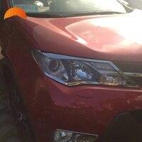 Voor Toyota RAV4 RAV 4 2014 2015 ABS Verchroomde Voorzijde hoofd Lichten Lamp Koplampen Cover Trim lampenkap 2 stks/set Auto Styling