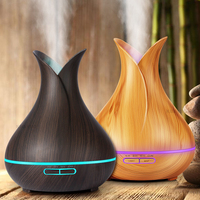 KBAYBO 400ml Aroma Essential Oil Diffuser Ultrasonic Air Humidifier with Wood Grain 7 Color Changing LED Lights for Office Home 5
