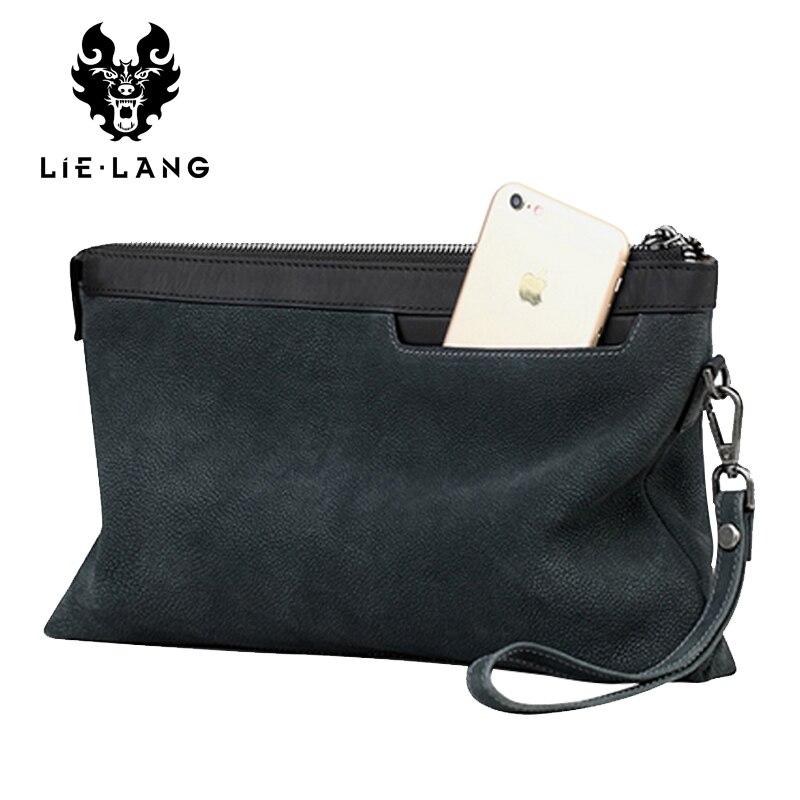 LIELANG wallet Genuine Leather Wallets Men Bag Day Clutches Bags Cowhide Purse Fashion Casual Bolsas Male