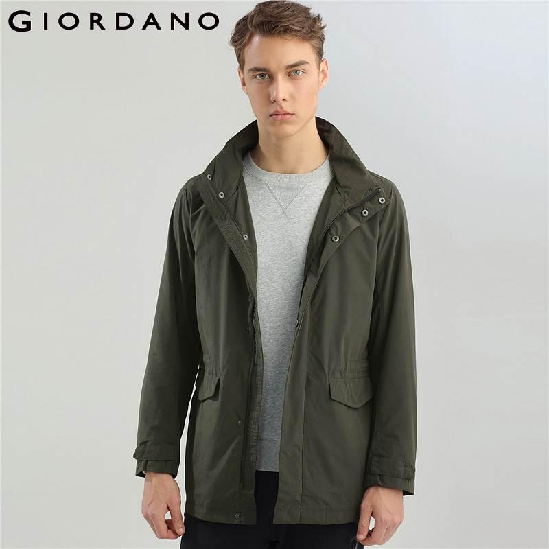 Giordano Men Down Jacket Men Reversible Style Hooded Lightweight Down Jacket Men Machine washable Windproof Packable