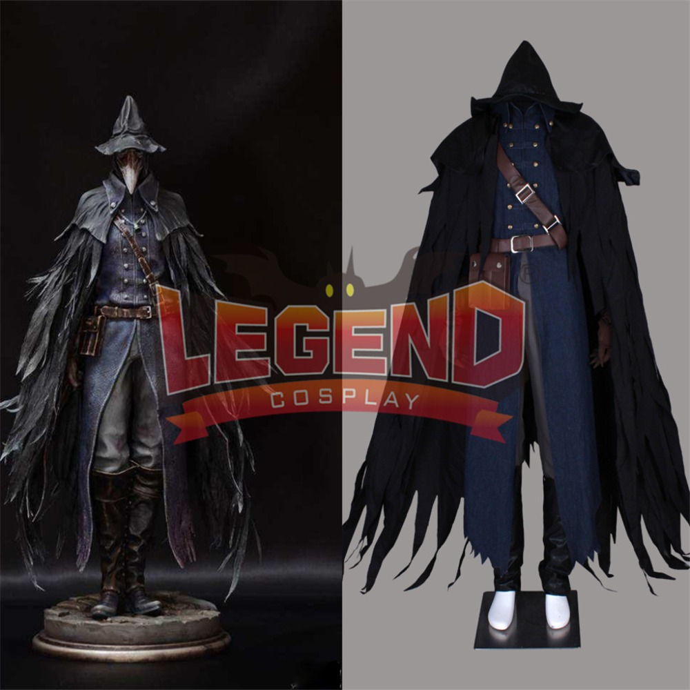 Bloodborne the raven hunter cosplay costume outfit custom made