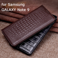 Original Design Business Flip Case for Samsung Galaxy Note 9 N9600 Genuine Leather Phone Case Stand Skin Shell for Galaxy Note 9