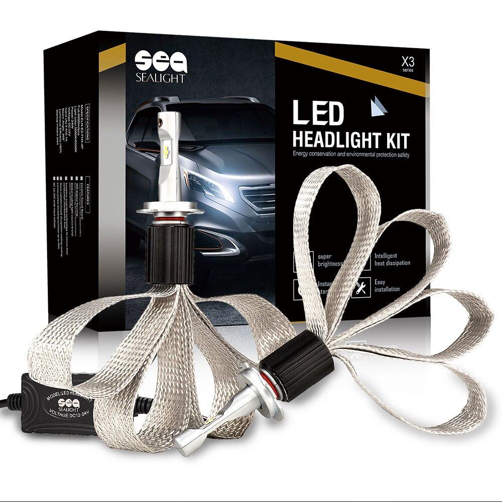Автомобиль-стайлинг SEALIGHT 12V привело автомобиля фары H7 один Луч авто лампы фар Лампа 6000K свет