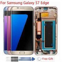Активно матричные осид, Дисплей для samsung Galaxy S7 край ЖК дисплей Экран дисплея дигитайзера Ассамблеи ЖК дисплей Galaxy S7 край G935f Дисплей ЖК диспл