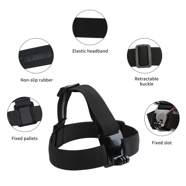 SHOOT Adjustable Harness Chest Strap Head Strap Belt for GoPro Hero 8 7 6 5 Black Xiaomi Yi 4K Sjcam Sj4000 Go Pro 7 8 Accessory 4