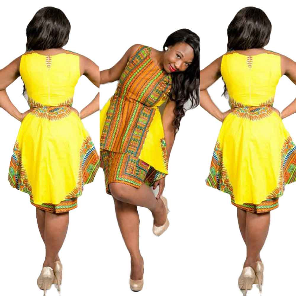 Africa Clothing Traditional African Print Dashiki Party Dresses