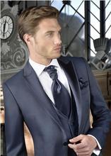 2017 Latest Coat Pant Designs Navy Blue Grey Formal Men Suit Slim Fit Simple Classic Custom