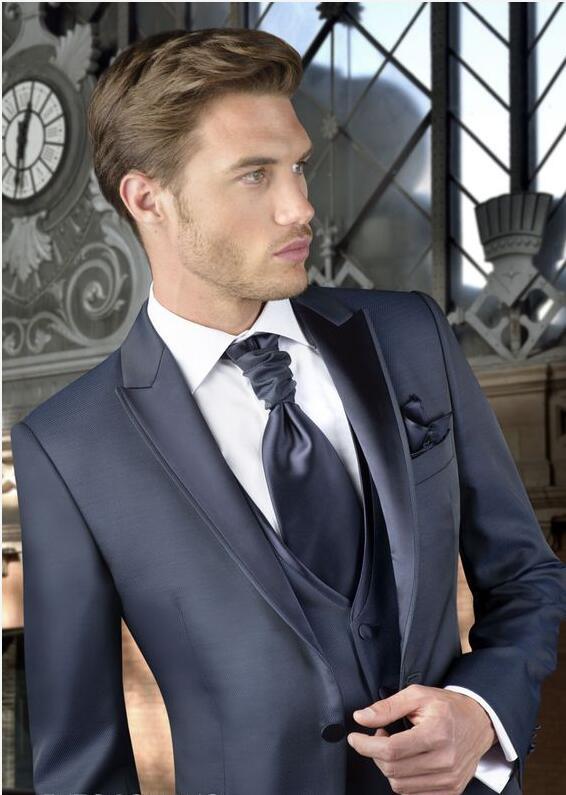 2017 Latest Coat Pant Designs Navy Blue Grey Formal font b Men b font font b