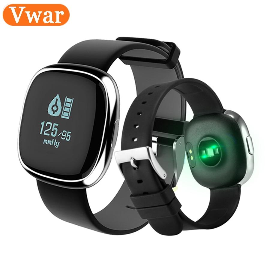 Vwar Business Smart Fitness Bracelet Blood Pressure Heart Rate Monitor Smart Band Pedometer Waterproof Bracelet for