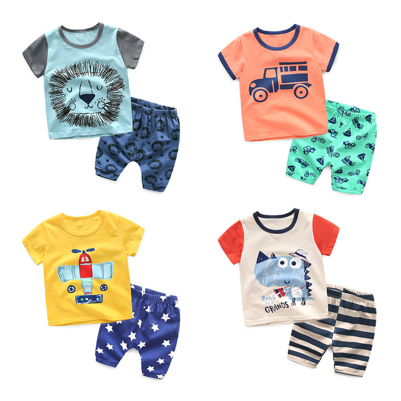 The Boys And Girls Summer Shorts Short Suit Baby Two Piece Korean Kids 2016 New Summer