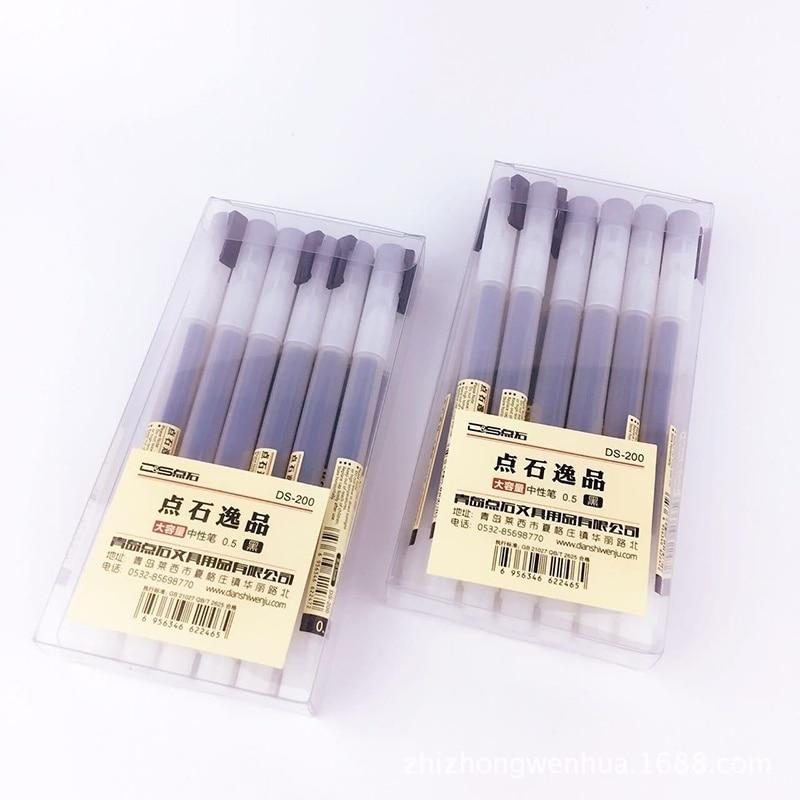 3Pcs/Set MUJI Style 0.5mm Water-based Pen Gel Black/Red/Blue Ink Maker School Office Supply