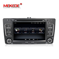 Wholesale! Quad Core HD1024*600 android 8.0 car dvd player for Skoda Octavia 2009 2010 2011 2012 2013 head unit with BT wifi FM