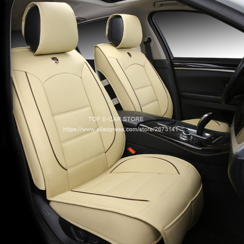 Luxury leather car cushion seat covers universal for Daewoo Nexia Lanos Matiz 3D car-styling