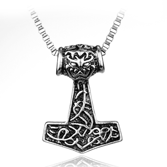 Rongji Jewelry Norse Viking Anchor Talismans Necklace Horde Symbol