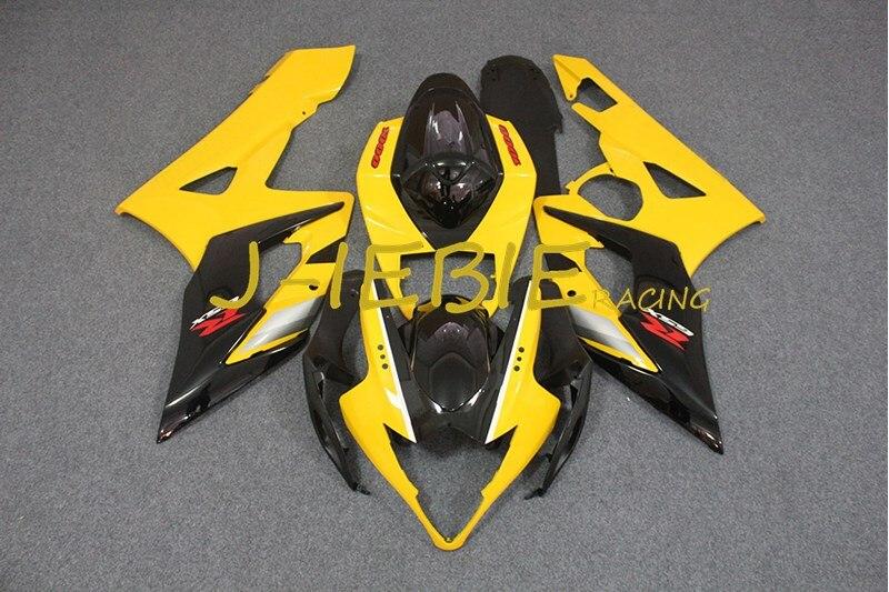 Black yellow Injection Fairing Body Work Frame Kit for SUZUKI GSXR 1000 GSXR1000 K5 2005 2006