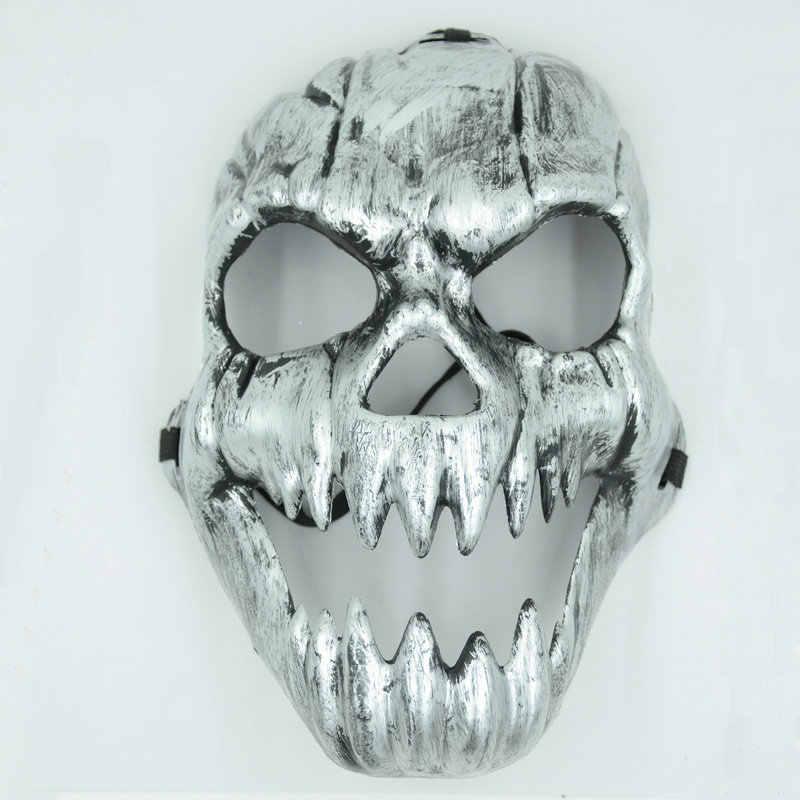 Декор для Хэллоуина, вечеринки, 1 шт. страшный скелет маска-Череп для взрослых Косплей Маскарад мяч античная маска для спортивных игр и повязка на голову, W