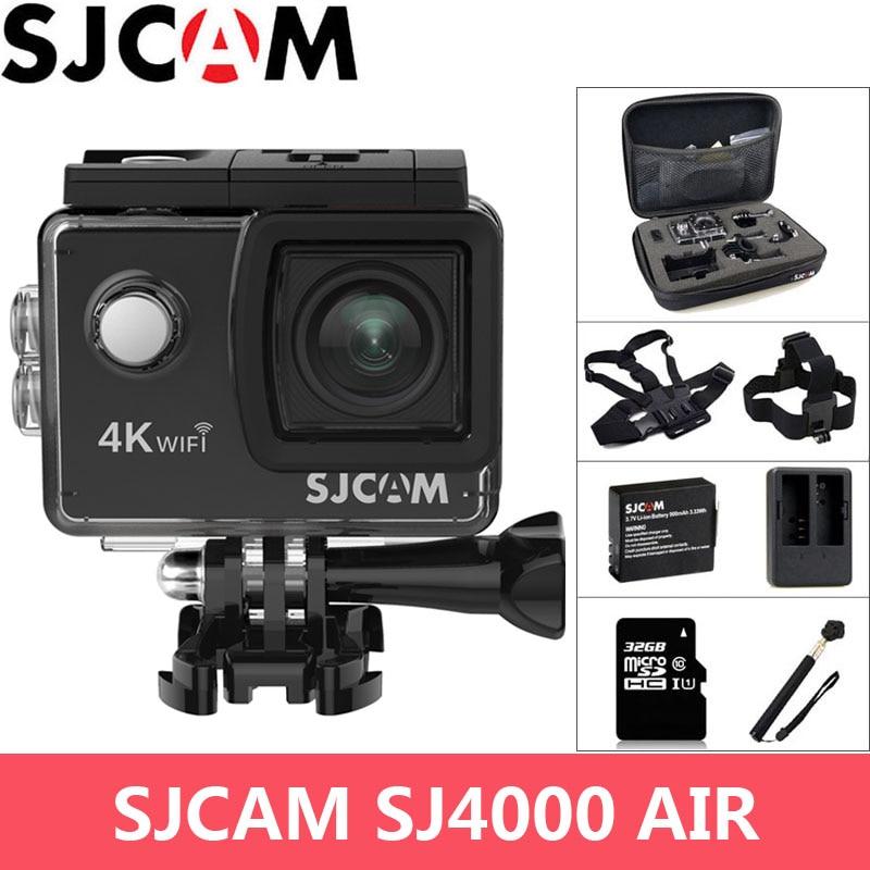 SJCAM SJ4000 AIR Action Camera 4K WiFi 2.0 inch LCD Screen 30m Waterproof 1080P Full HD Extreme Sports DV Original SJ 4000 Cam original sjcam sj4000 series 1080p hd 2 0 sj4000 wifi action camera waterproof sports dv car registrar go extreme pro yi sj cam