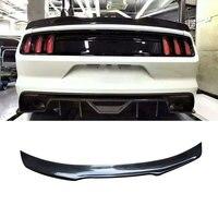 Углеродного волокна задний спойлер Крылья для Ford Mustang GT V8 V6 GT350R купе 2015 2016 2017 задний багажник boot спойлер стайлинга автомобилей