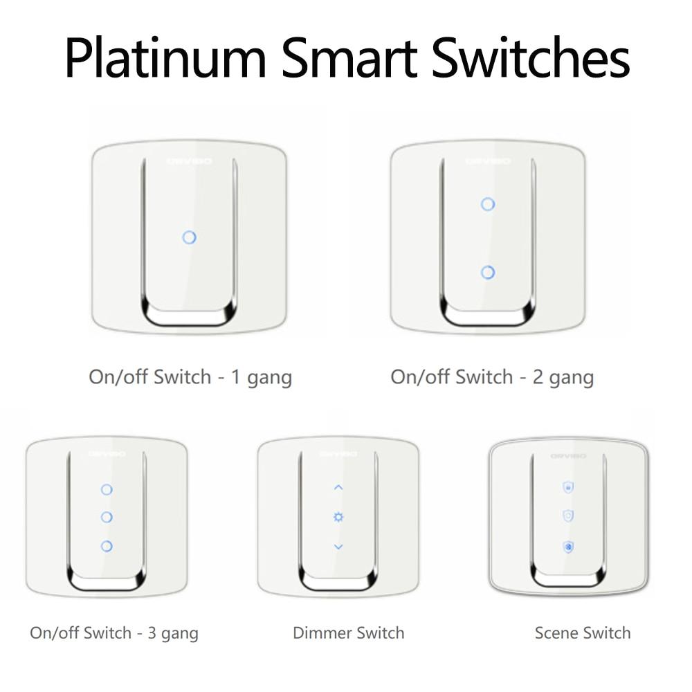 2018 Orvibo SMART SWITCHES - ZigBee wireless control switches Platinum Smart Switches HomeMate APP Supported 2018 orvibo geekrav zigbee smart switch zero