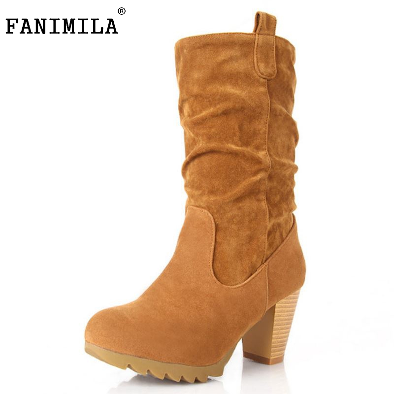 Women High Heel Half Short Boots Winter Warm Platform Mid Calf Boot Martin Sexy Quality Footwear Heels Shoes Size 34-43 6 inch platform side zipper fashion boot women top bows suede sexy 15cm ultra high heels short boots martin crystal shoes