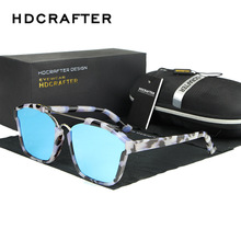 HDCRAFTER Camouflage Sun Glasses Brand Designer ColorfulCoating Mirror Sunglasses Frame Retro Women Oculos With Case