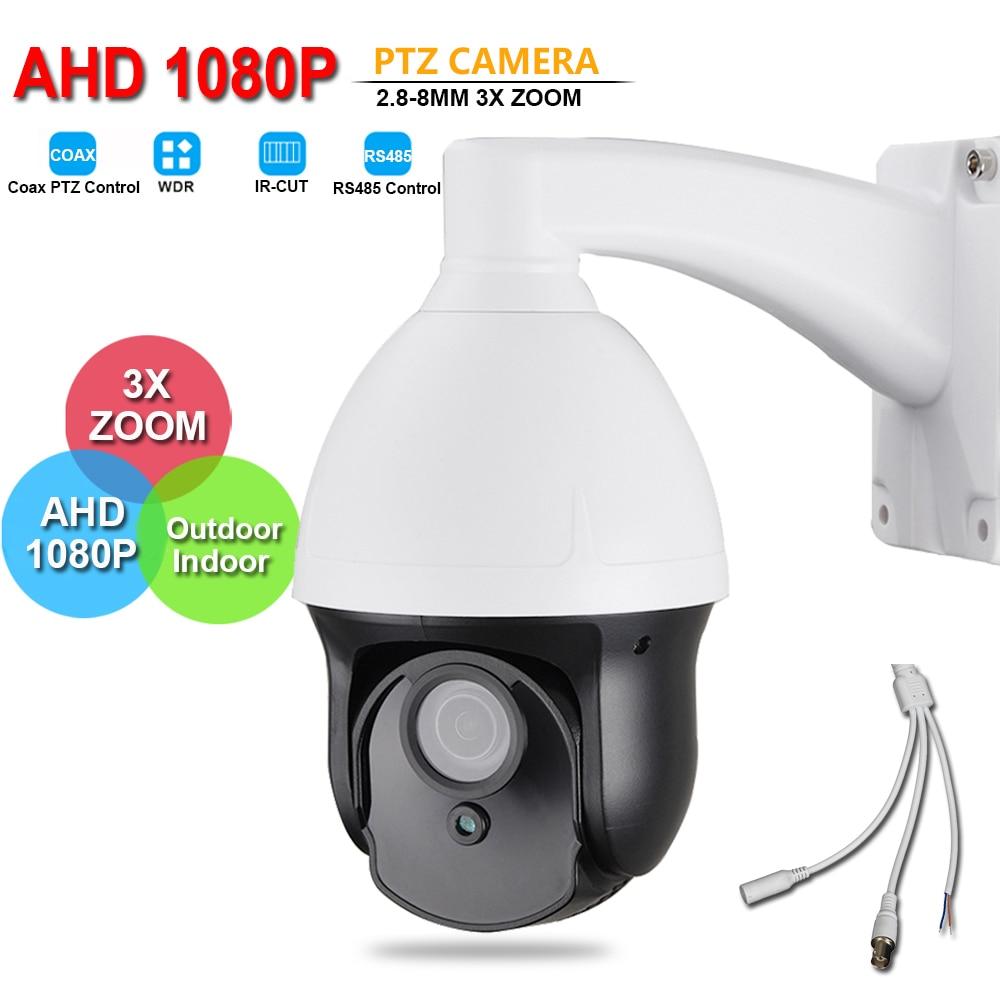 Outdoor CCTV Security AHD 1080P PTZ Camera Full HD 2MP 3 Mini Size 3X ZOOM 2.8-8mm Lens IR Auto Focus Coaxial RS485 PTZ Control удлинитель zoom ecm 3
