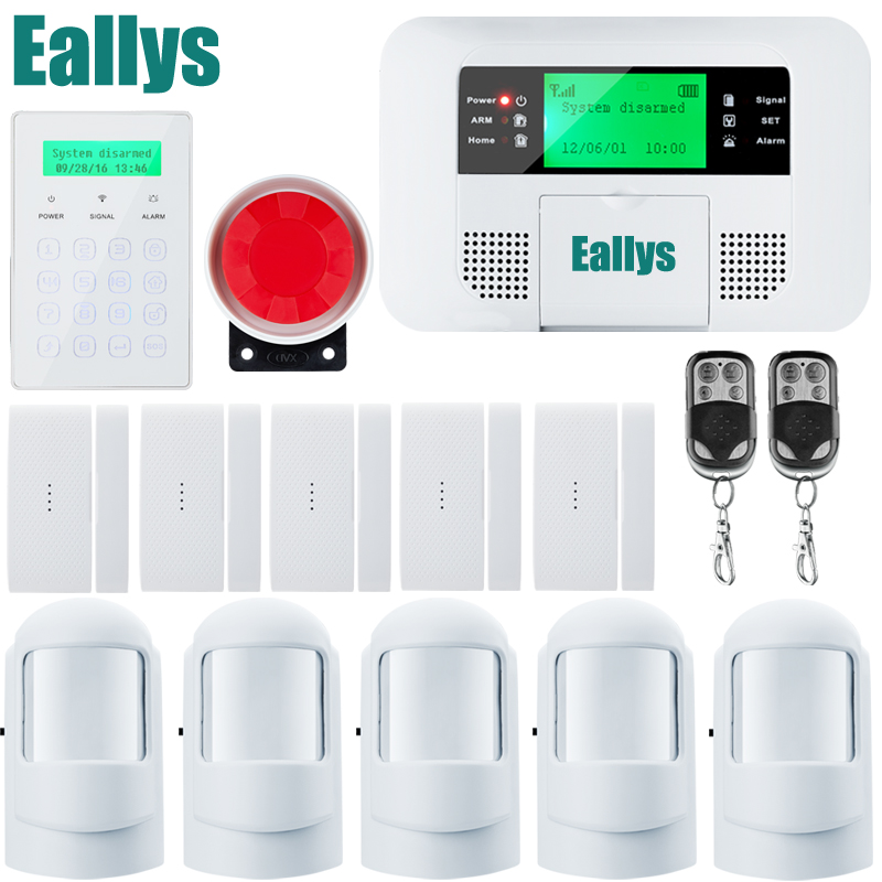 Home alarm system multiple voice wireless pstn gsm alarm system security home with magnetic Door sensr Motion detector forecum 433mhz wireless magnetic door window sensor alarm detector for rolling door and roller shutter home burglar alarm system