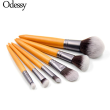 ODESSY 6PCS/SET Professional Makeup Brushes Set Make up Brush Tool kit Buffer Paint Blush Eye Nose Shadow brush Beauty