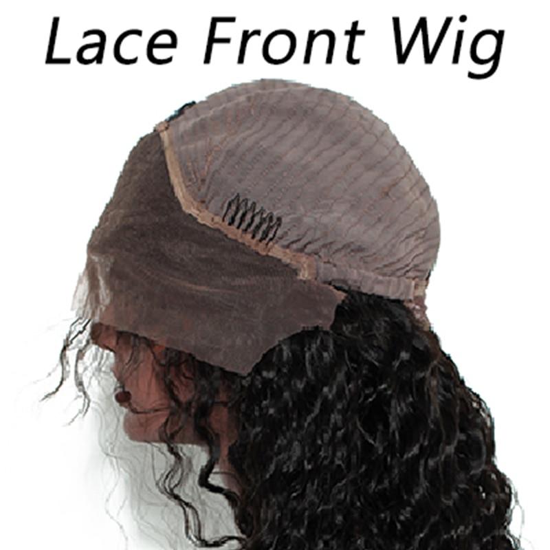 Ever Beauty 13x4 Lace Front Մարդու մազերի wigs - Մարդու մազերը (սև) - Լուսանկար 6