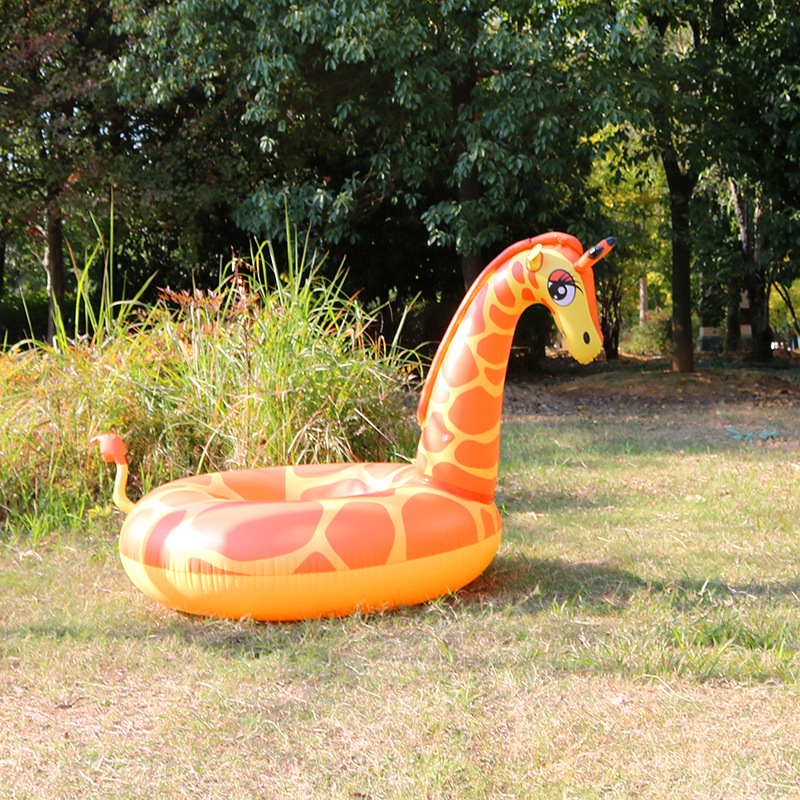 Amysh 160cm Inflatable Giraffe Swimming Ring Giant Pool Float Mattress  Swimming Circle Adult Beach Summer Water Inflatable Toys In Inflatable  Bouncers From ...