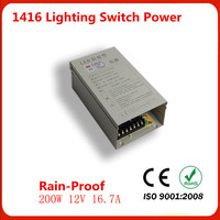 Manufacturers Selling Output 200W 12V 16 7A Rain Proof Switch Power FY 200w 12v LED Drive