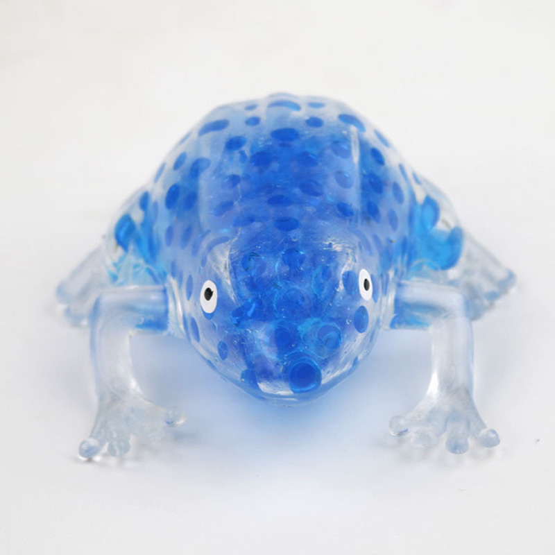 4 Color Available Bead Stress Ball Sticky Squeeze Frogs Antistress Vent Spoof Toy Squeeze Frog  Soft Slow Rising Toy