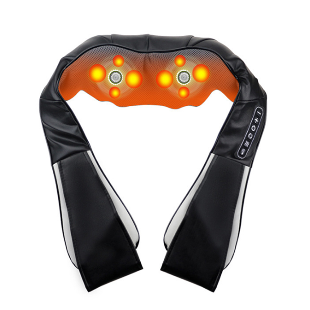 Electric Neck Roller Massager Shiatsu Infrared Heated Home Massagem U Shape Shoulder Back Massage Pillow Massageador RelaxElectric Neck Roller Massager Shiatsu Infrared Heated Home Massagem U Shape Shoulder Back Massage Pillow Massageador Relax