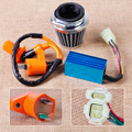 Racing Ignition Coil + 6 Pin CDI Box + Air Filter Kit Fit for GY6 50cc 90cc 125cc 150cc Scooter ATV Moped Go Kart Dune Buggys